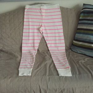 Old Navy Cream & Pink Thermal Leggings